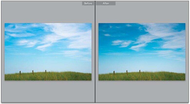 Исправление неба при помощи Градиент-фильтра