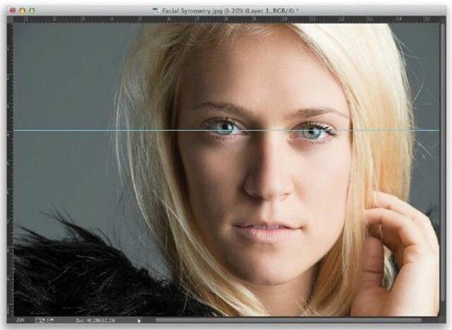 Придание симметрии чертам лица в Lightroom
