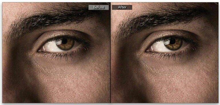 Повышение резкости глаз в Photoshop