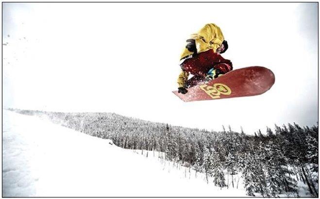 сноубордист на фото