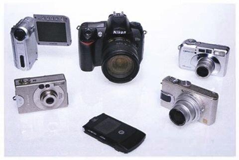разнообразие цифровых камер
