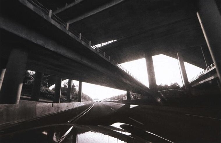 перспектива моста и балок