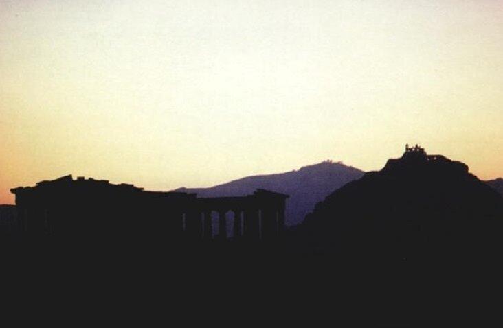 Снимок афинского акрополя