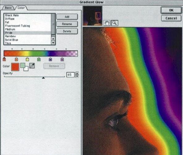 Фильтр Gradient Glow